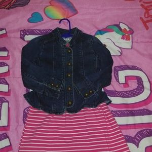 Baby Gap Girl Denim Jacket 3T 3 Years